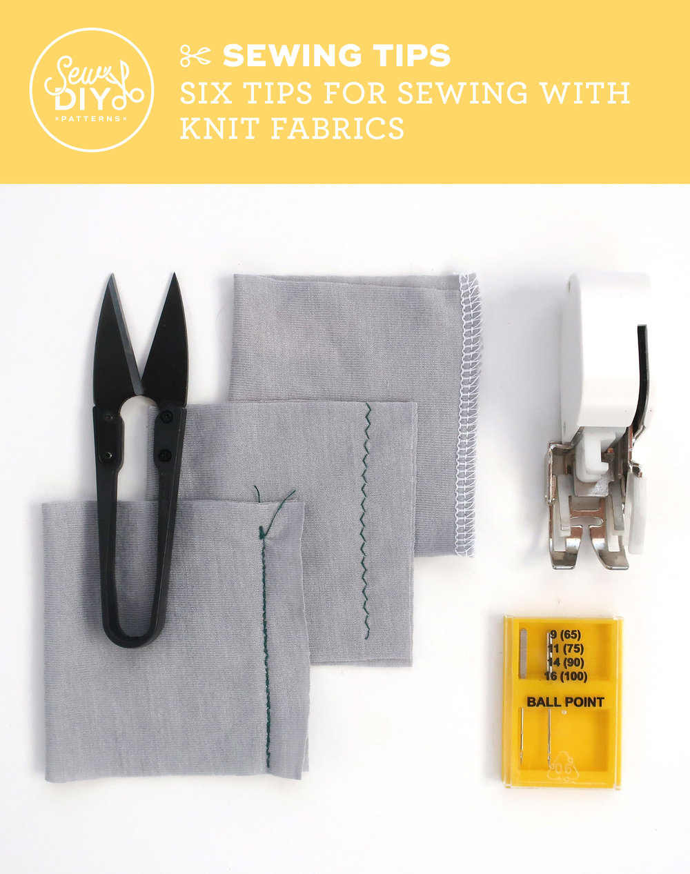 Six Tips for Sewing with Knit Fabric - Video from Sew DIY