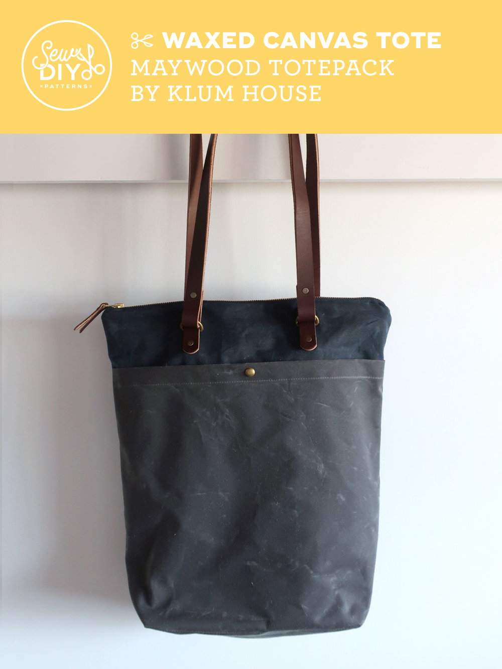 DIY Convertible Tote Backpack - Maywood Totepack by Klum House