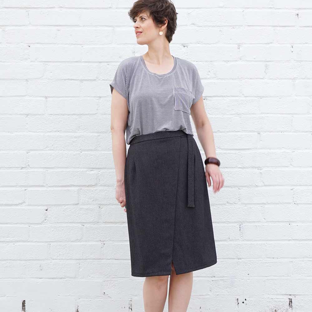 Nita Wrap Skirt Pdf Pattern Sew Diy