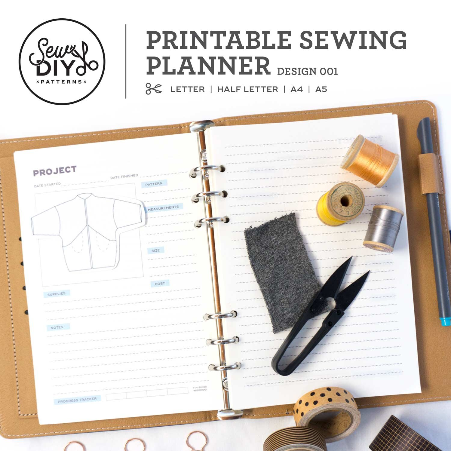 photo about Printable Project Planner identified as Printable Sewing Planner PDF Down load Sew Do it yourself