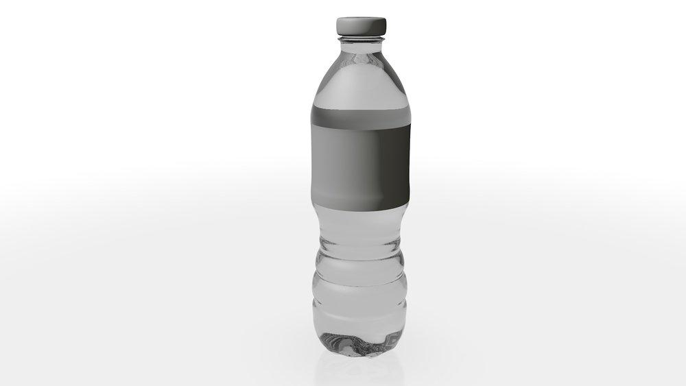 3D model of single water bottle.