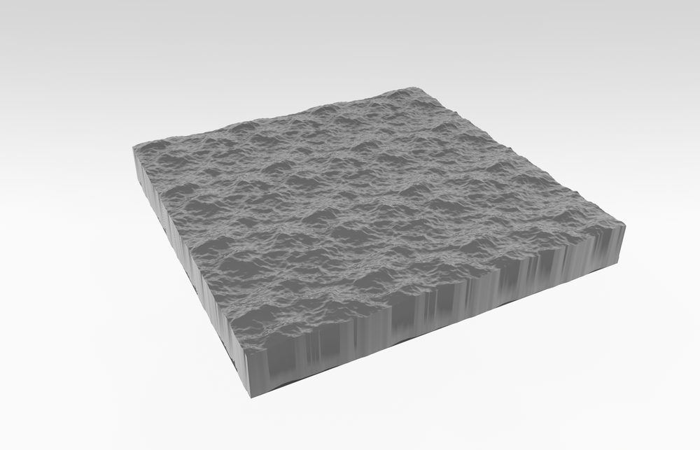 3D model of wave section from ocean.