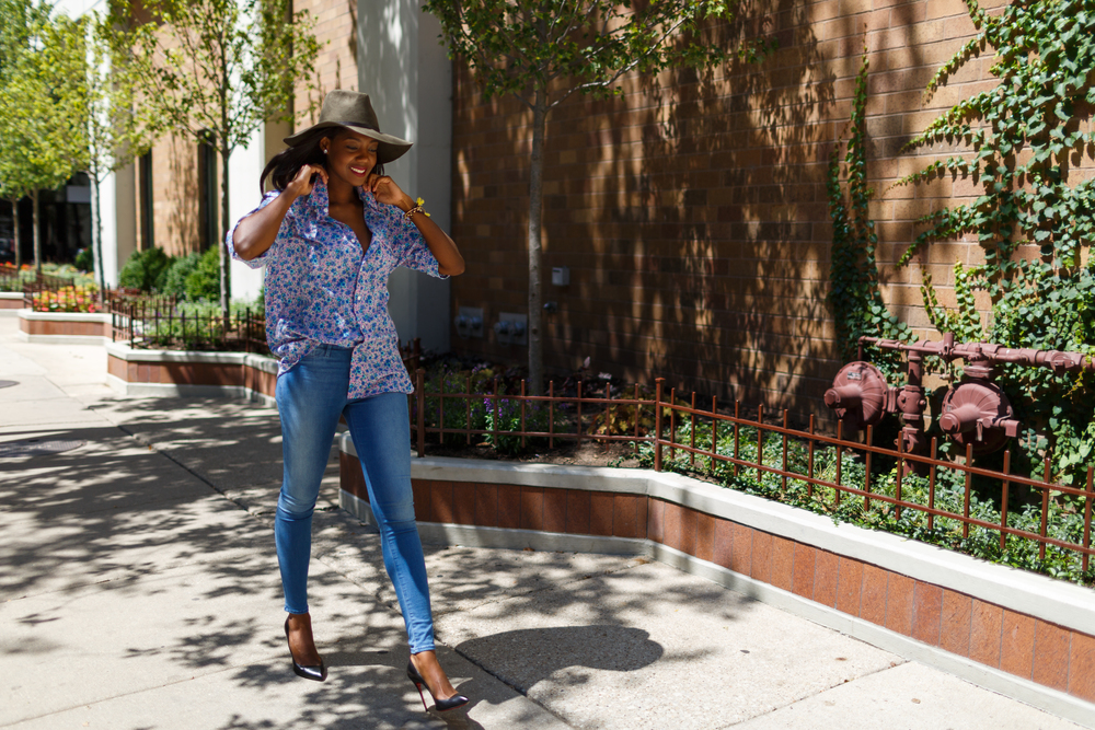 Afua Rida Styled By Rida Ghana Fashion Blogger African Blogger Polo Boyfriend shirt Louboutin top Shop Zara Hat Chicago Downtown Infrusture  Fashion Stylist African Blogger .jpg