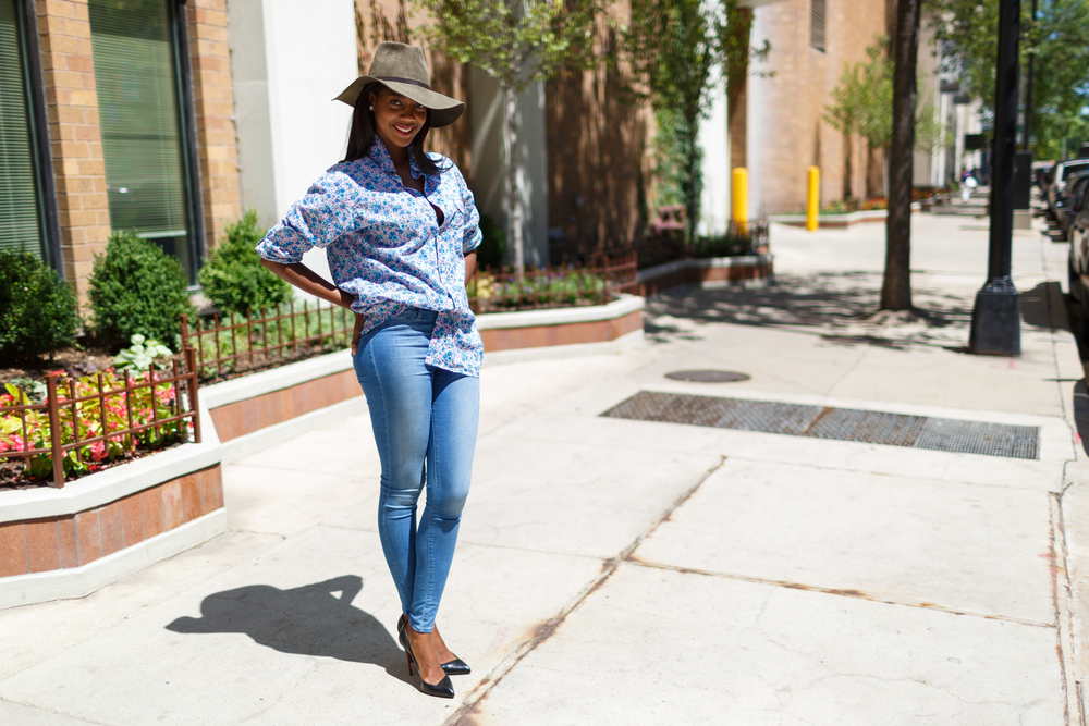 Afua Rida Styled By Rida Ghana Fashion Blogger African Blogger Polo Boyfriend shirt Louboutin top Shop Zara Hat Chicago Downtown Infrusture  Fashion Stylist African Blogger 8.jpg