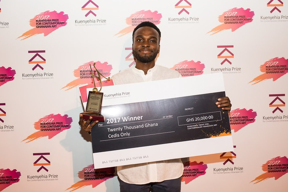 Isaac Opoku, winner of the 2017 Kuenyehia Art Prize.jpg