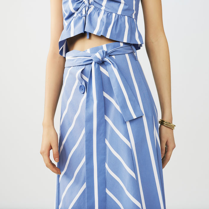 Maje striped A line skirt