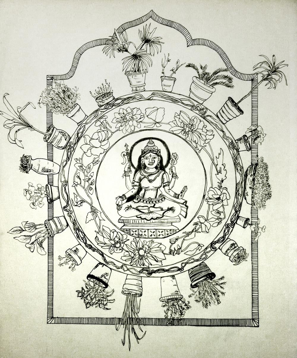 """© 2014 Mallika Roy, """"Thakuma's Garden"""""""