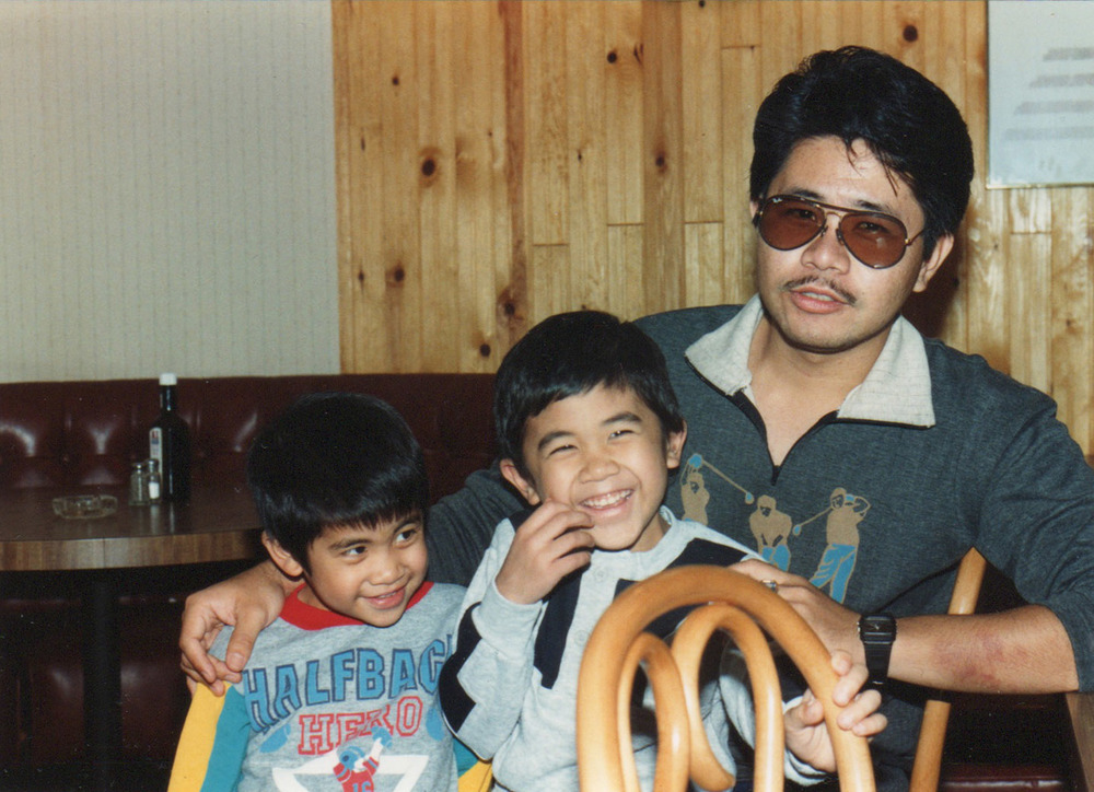 Tito Edgar with two of his nephews.