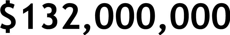 $132,000,000