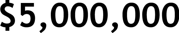 $5,000,000