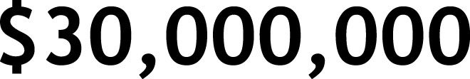 $30,000,000