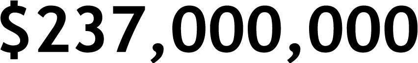 $237,000,000