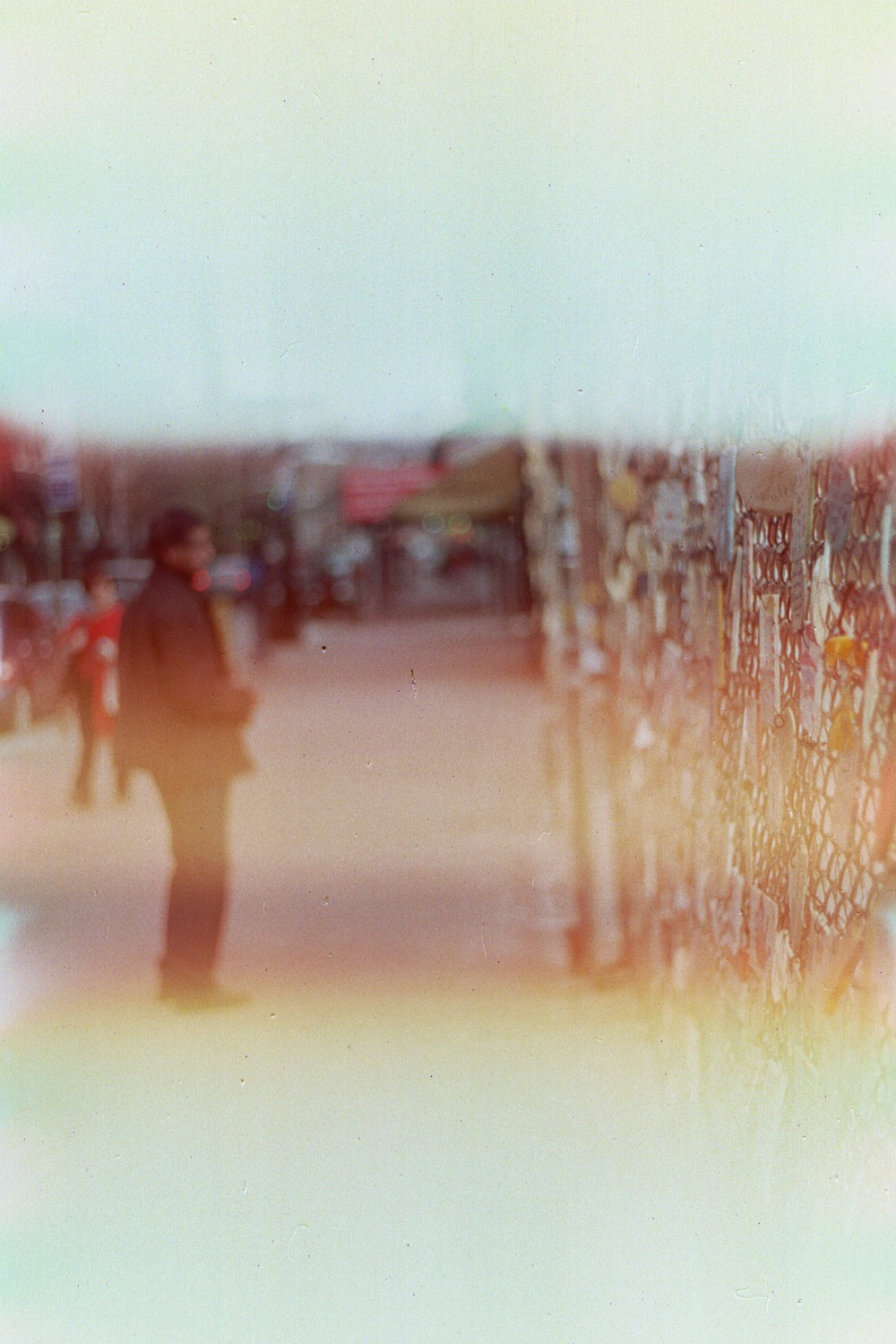 Three examples of light leaks affecting photos from a 35mm film camera - an aesthetic Instagram emulates through filters
