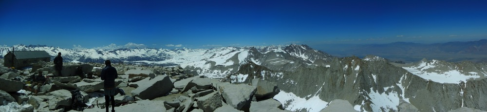 The summit of Mt. Whitney.