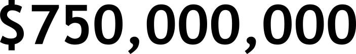 $750,000,000