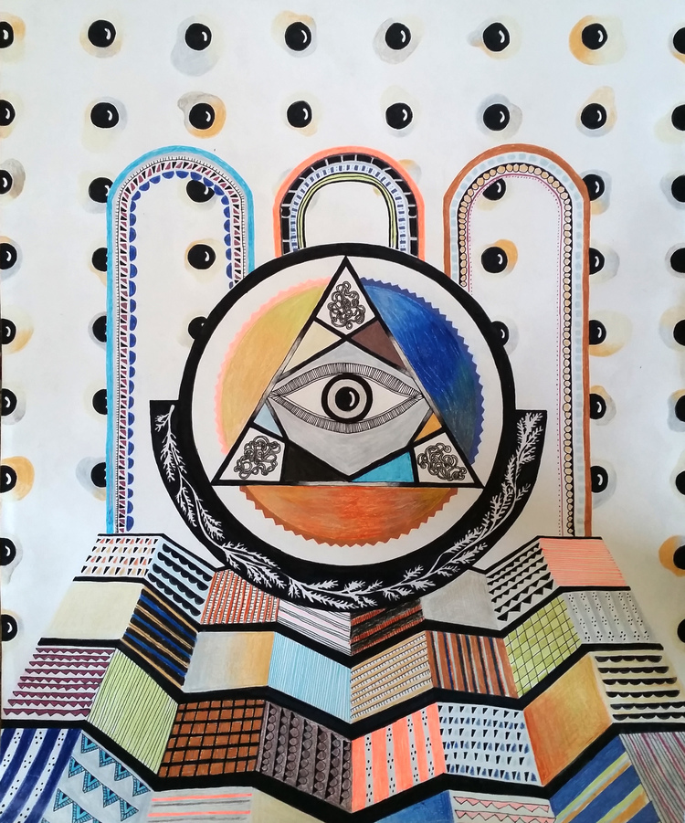 "© 2015   Mallika Roy  ,  ""All-Seeing Eye"""