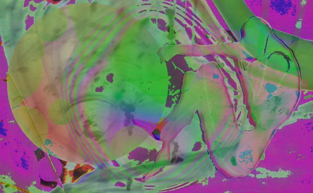 "© 2015  Chrystal Berche ,  ""Hazy Swirls of Green"""