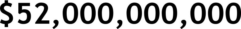 $52,000,000,000