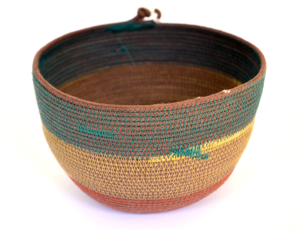 bowl - minismallmedium natural / brown / black+white / jute / stripe / rainbow