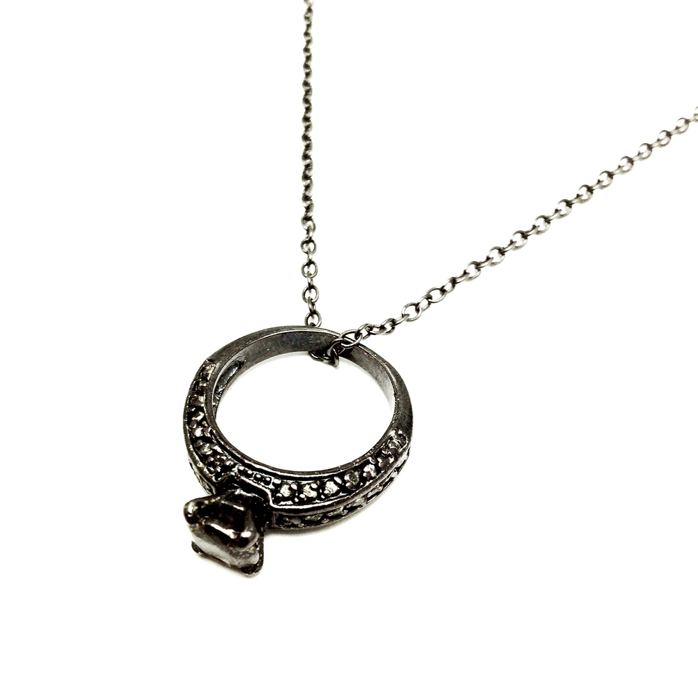 Wedding Ring Necklace 6 Awesome Engagement ring on necklace