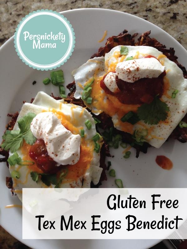 gluten free text mex eggs benny