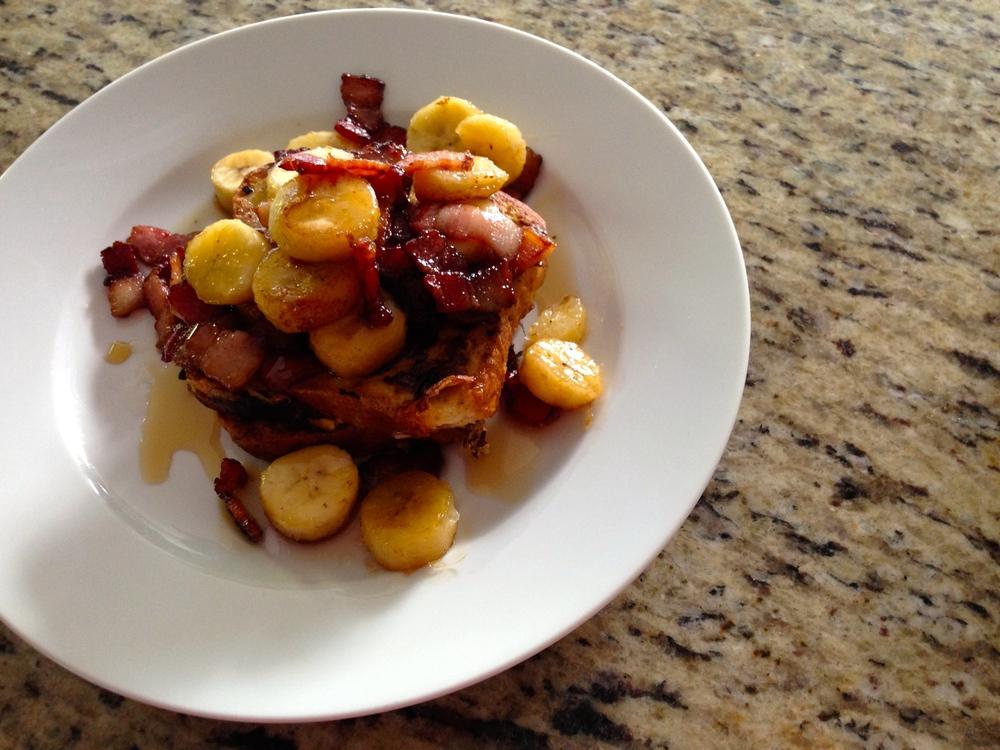 bacon banana french toast