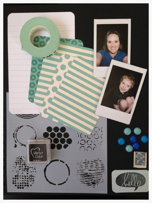Supplies: Simply Sketchbook 8.5 x 11 | Project Life Cards | Instax Photos taken with my Instax Mini 8 camera | Embellishments | Stamps