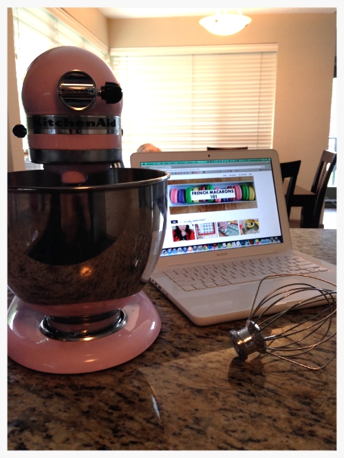 Got the pink mixing ninja out of the cupboard... laptop ready!
