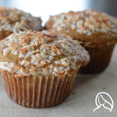 gluten free coconut lime muffins