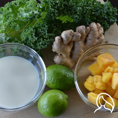 mango lime kale green smoothie