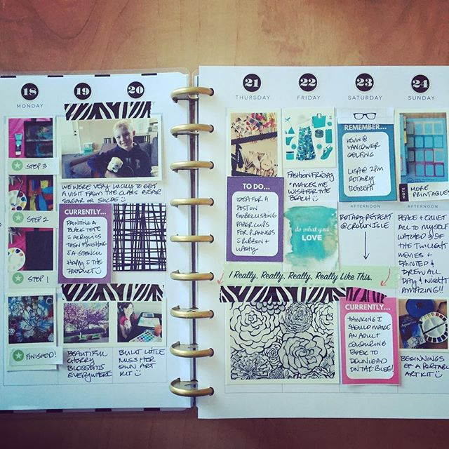 Another week in my #happyplanner - messy but collect all my activities and some photos like the process :) #mambihappyplanner #plannernerd #planneraddict #planner