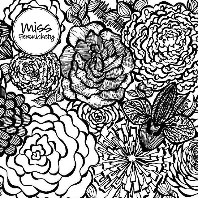Free floral colouring page on the blog today - link to website in profile! #coloring #coloringforadults #printable #freeprintable #color
