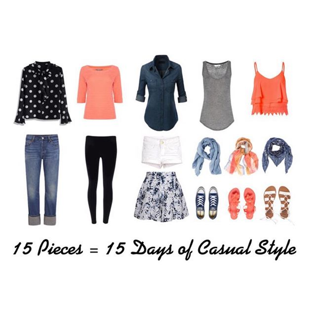 New blog post - 15 summer pieces = 15 casual summer looks - link to blog in profile #fblogger #fbloggers #polyvore #fashion #outfit #summerclothes