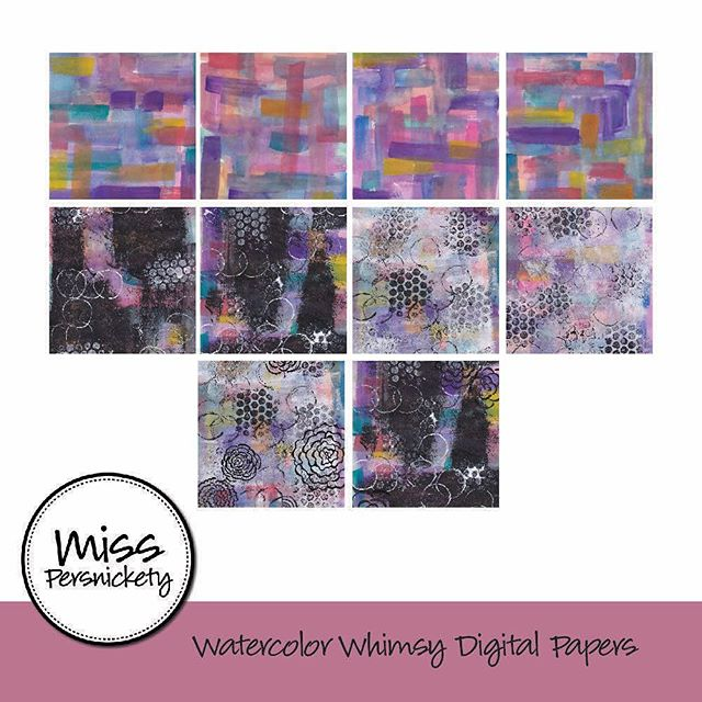 More scrapbooking / art journal backgrounds in my new #Etsy shop - search MissPersnicketyShop to check it out today! #scrapbooking #art #artjournal #artjournaling #artjournalpage