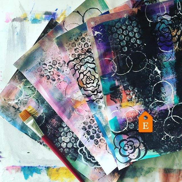 Art journal pages all ready for instant download in my Etsy Shop :)
