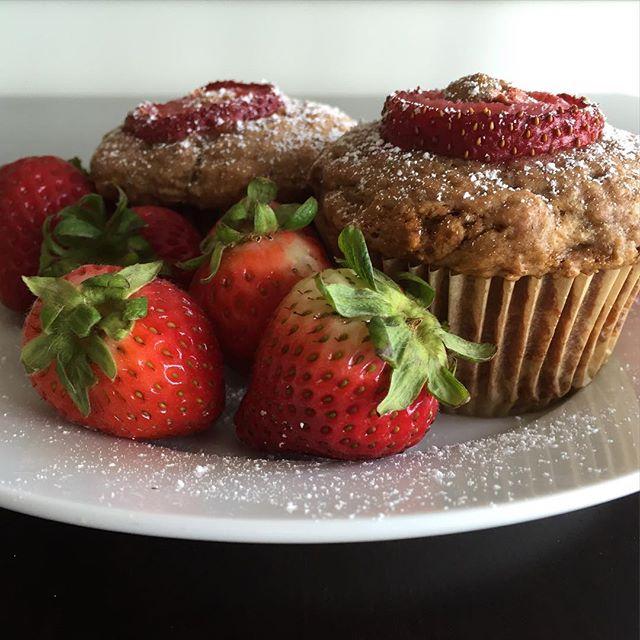 Banana Strawberry Cream Cheese Muffins on the blog #recipe #linkinprofile #baking #blogger #blogpost #newpost