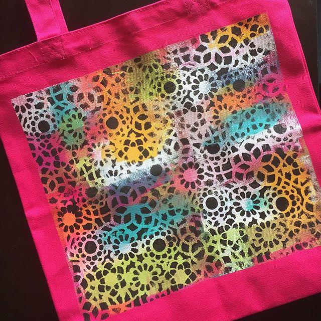 NEW blog post - Hand #Painting Tote Bags #linkinprofile #handmade #blogger #art #artblogger #newpost
