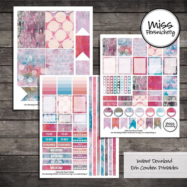 "NEW STOCK - follow link in profile :) 🌺 Artistic Vibes Planner Printables - Pink, Light Blue, Grey 160+ Printable planner stickers for MAMBI Happy Planner, Erin Condren Planner or FiloFax in Pink, Light Blue, Grey colours.  Created for you for in Photoshop - will print perfectly to decorate your Happy Planner, Erin Condren planner or Filofax planner.  Weekly kit with comes complete with: 🌺  patterned and writeable full boxes 🌺  patterned and writeable half boxes 🌺  to do lists 🌺  checklists 🌺  To Buy / To Do / Remember headers 🌺  circles 🌺  small & large flags 🌺  gradient note boxes 🌺  patterned box headers 🌺  hydrate checklists 🌺  weekend banners 🌺  decorative strips that fill 4.5"" + 6"" weekly spreads when cut down 🌺  monthly calendar boxes 🌺  3"" x 4"" journal cards now included!  #planner #plannerprintable #plannerstickers #happyplanner #erincondren #etsy #mambi #mambiplanner #planneraddict #plannerlove #plannernerd #plannercommunity #plannergirl"