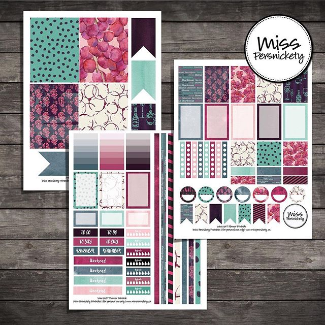 "Love Wine? NEW! 🍷 Wine Not? Shop now - link in profile - Wine Themed Planner Printables - Wine, Pink, Purple, Teal 160+ Printable planner stickers for $3.00 USD / $4.00 CDN Based on 2.25"" high x 1.5"" wide planner boxes for Happy Planner and 1.9"" high x 1.5"" wide planner boxes for Erin Condren.  Weekly kit with comes complete with: 🍷 patterned and writeable full boxes 🍷 patterned and writeable half boxes 🍷 to do lists 🍷 checklists 🍷 To Buy / To Do / Remember headers 🍷 circles 🍷 small & large flags 🍷 gradient note boxes 🍷 patterned box headers 🍷 hydrate checklists 🍷 weekend banners 🍷 decorative strips that fill 4.5"" + 6"" weekly spreads when cut down 🍷 monthly calendar boxes 🍷 3"" x 4"" journal cards now included!  #planner #planneraddict #plannerlove #plannernerd #plannercommunity #plannerstickers #happyplanner #erincondren #erincondrenlifeplanner #mambi @erincondren @meandmybigideas @the_happy_planner"