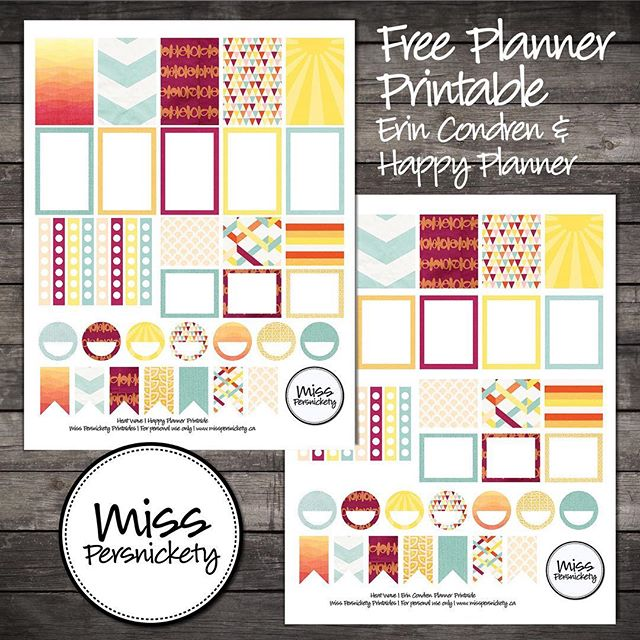 New FREEBIE planner printable on the blog - #linkinbio - celebrate summer with my Heat Wave Planner printable! Sized for both the Happy Planner & Erin Condren LifePlanner! #planner #happyplanner #erincondrenlifeplanner #beach #summer #planneraddict #plannerlove #plannernerd #plannercommunity #plannergirl #plannerstickers
