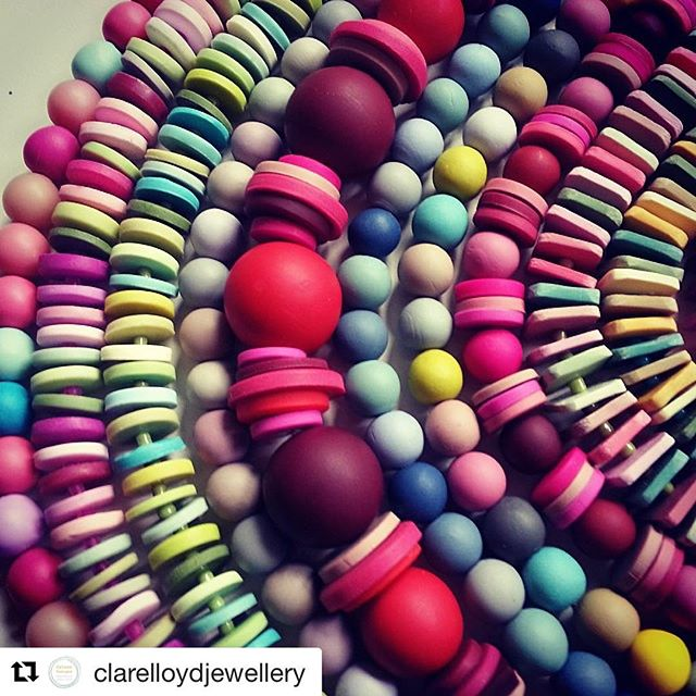 How stunning is her jewellery?? just bought some clay to play with this weekend. This is officially on the list to try out. So much handwork - amazing!!! #Repost @clarelloydjewellery with @repostapp ・・・ Handmade polymer clay beads #handmadejewellery #handmade #jewellery #colour #beads