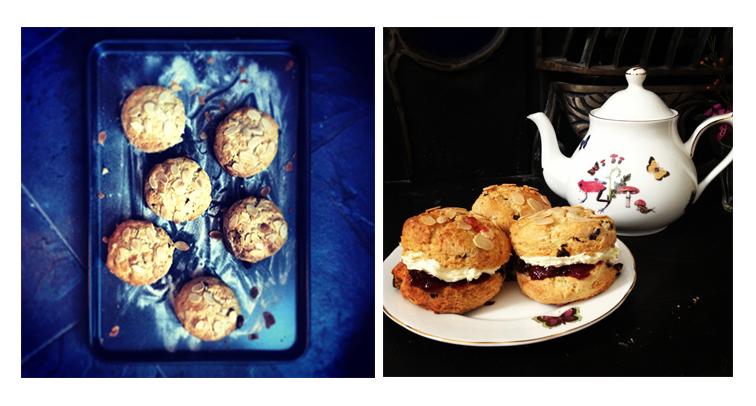 cherry and almond scones
