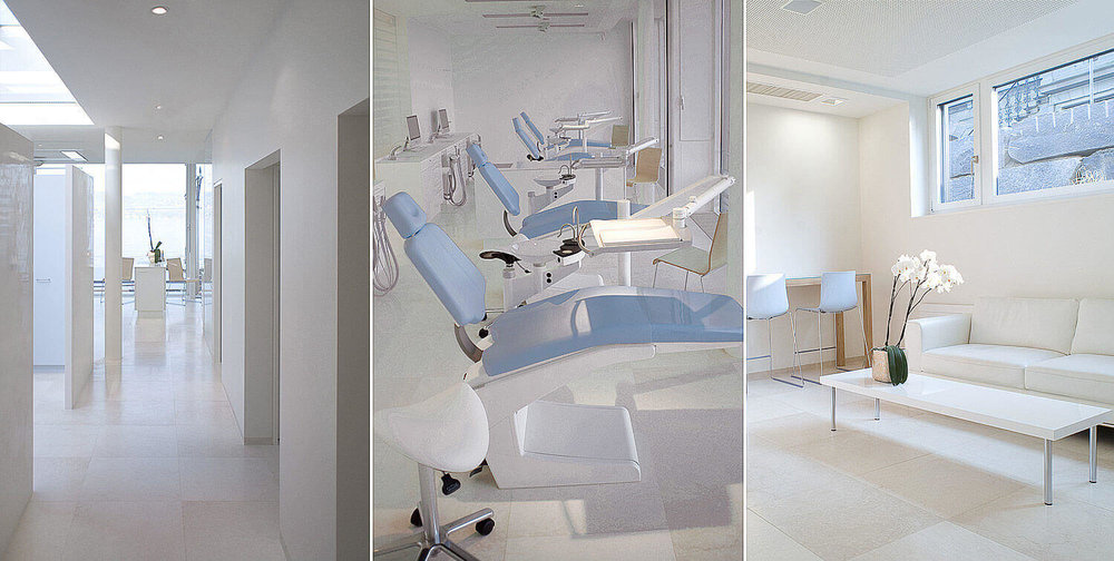 Commercial interiors photography for the orthodontic center near Zurich with treatment and waiting room.