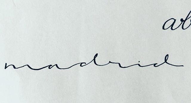 Madrid. #caligrafia #calligraphy #madrid #caligrafiaconarte #handmade