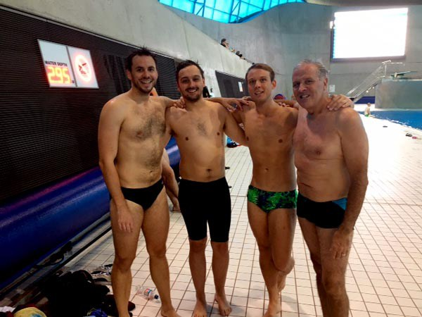 Left to right – Chris Millard, Josh Smith, Martin Schellert and John Moore