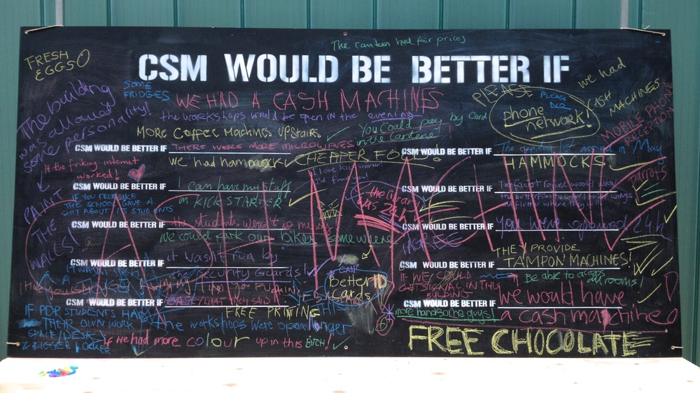 """CSM would be better if"" board"