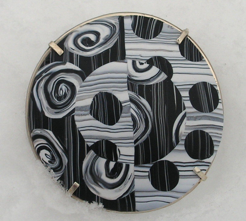 woodcut dome pin