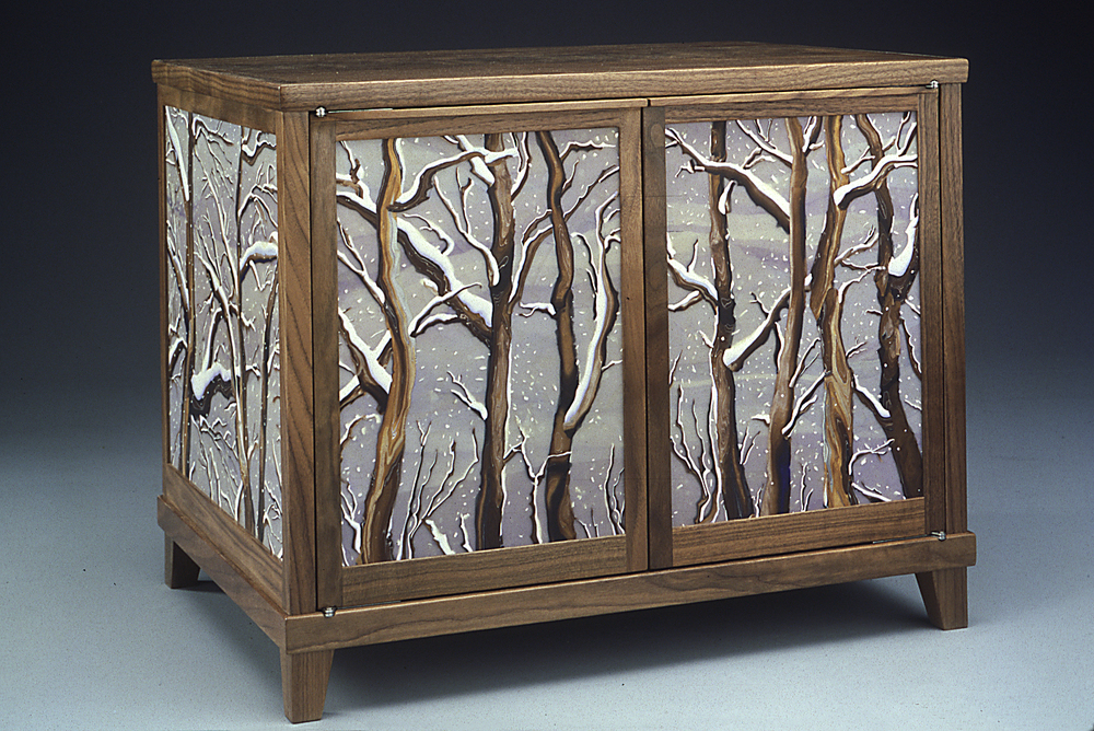 winter wood coffer