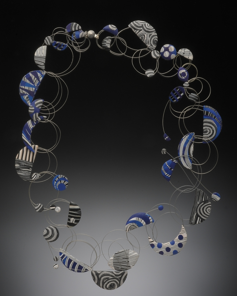 black white and blue -wire loop series