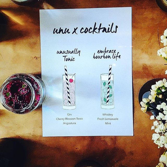 Yesterday's cocktail menue for @unu. A #ginandtonic adaption using @brickgin and @thomashenryofficial #cherryblossom Tonicwater and our homemade #Bourbon Lemonade. Thanks for having me! Enjoy your ride! #unumotors #factoryberlin #cocktails #mixology #sektgar